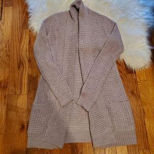 Revamped Purple Knit Long Open Cardigan Sz XS